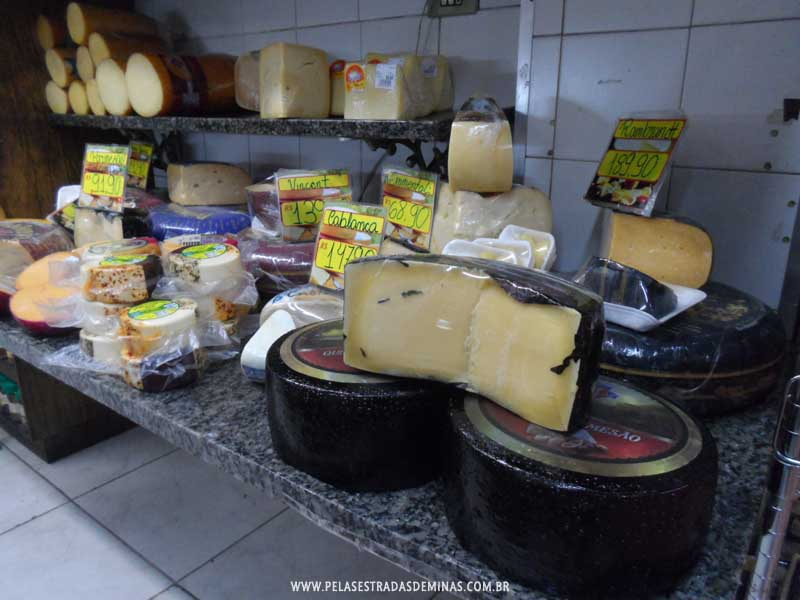 Foto: Queijos - Mercado Central de BH