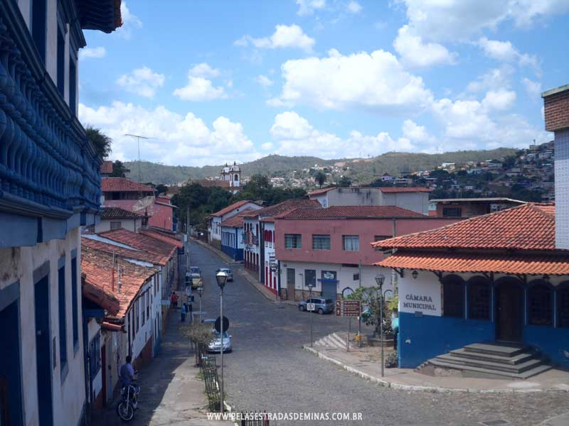 Foto: Rua Borba Gato - Câmara Municipal de Sabará