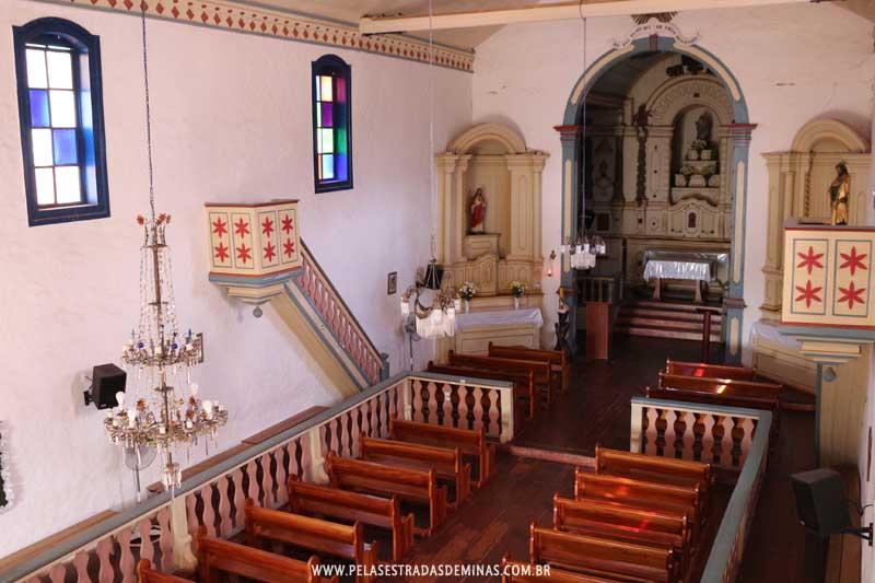 Interior da Igreja Matriz de Nossa Senhora do Rosário