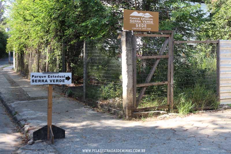 Entrada da Sede do Parque Estadual Serra Verde