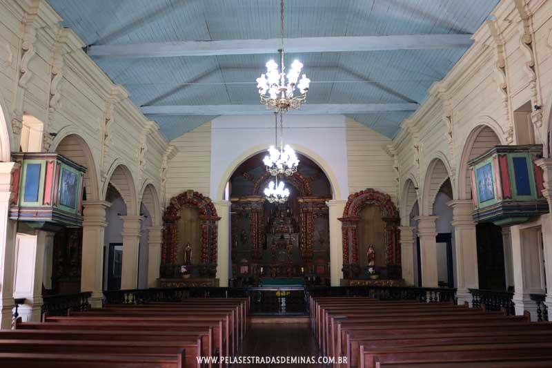 Interior da Igreja Matriz Nossa Senhora da Conceição de Raposos - MG