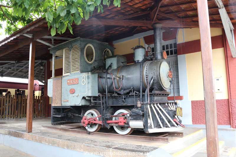 Locomotiva 8 - Manuela - Estação de São Lourenço - MG